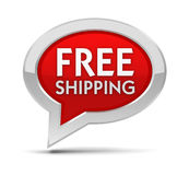 Free shipping badge concept illustration Royalty Free Stock Image