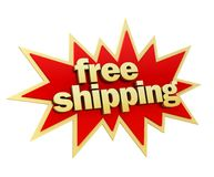 Free shipping badge concept illustration Royalty Free Stock Photography