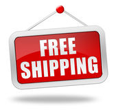 Free shipping badge 3d illustration Stock Photos