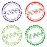 Free Shipping badge isolated on white background. Stock Photo