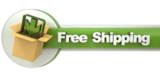 Free shipping banner Stock Images
