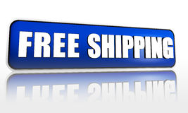 Free shipping blue banner Royalty Free Stock Photos