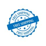 Free shipping stamp illustration Royalty Free Stock Photo