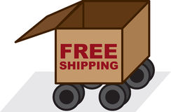 Free Shipping Box Royalty Free Stock Photos