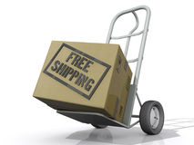 Free Shipping Box Royalty Free Stock Images