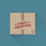 Free shipping. Box abstract design Royalty Free Stock Photography
