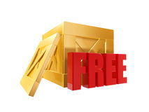 Free shipping box Stock Photography