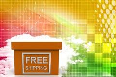 Free shipping  box illustration Stock Photo