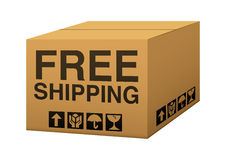 Free Shipping Box Royalty Free Stock Photo