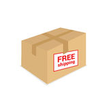 Free shipping on the box vector Stock Photo