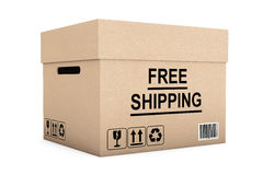 Free Shipping Box Royalty Free Stock Photography