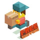 Free shipping boy Royalty Free Stock Photos