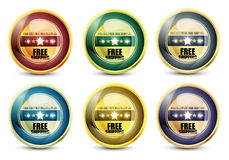 Free shipping button set Royalty Free Stock Photo