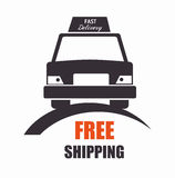 free shipping car front view icon Stock Photos