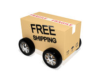 Free shipping cardboard Royalty Free Stock Images