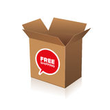 Free shipping cardboard Royalty Free Stock Image