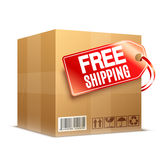 Free Shipping Cardboard Box Stock Image