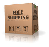Free shipping cardboard box package delivery Royalty Free Stock Photo
