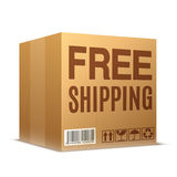 Free Shipping Cardboard Box Stock Photos