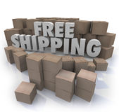 Free Shipping Cardboard Boxes Packages Orders Delivery Stock Illustration
