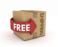 Free shipping cardboard Stock Photo