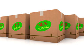 Free shipping cardboard Stock Photos