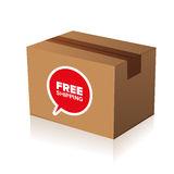 Free shipping cardboard Royalty Free Stock Photography