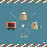 Free shipping carriers Royalty Free Stock Images