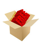 Free shipping Carton Box on white Royalty Free Stock Image