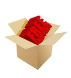 Free shipping Carton Box on white Royalty Free Stock Image