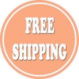 Free shipping circle Royalty Free Stock Photos
