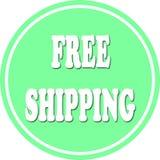 Free shipping circle Royalty Free Stock Images