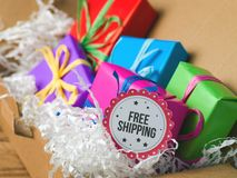 Free shipping concept Royalty Free Stock Photos