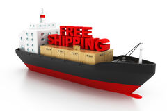 Free shipping concept Stock Images