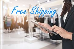 Free Shipping Concept Royalty Free Stock Photo