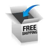 Free Shipping 3D Box Stock Photo