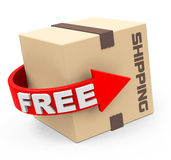 Free shipping. 3d generated picture of a free shipping concept stock illustration