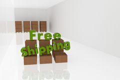 Free shipping 3d text royalty free stock images