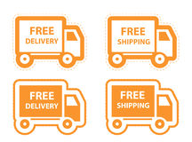 Free shipping, delivery icon set. vector Royalty Free Stock Photography