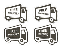 Free shipping, delivery icon set. vector Royalty Free Stock Photo