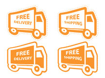 Free shipping, delivery icon set. vector Stock Photography