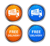 Free shipping, delivery icon set. vector Stock Photos
