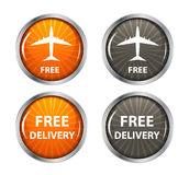 Free shipping, delivery icon set. vector Stock Photo