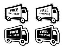 Free shipping, delivery icon set. vector Royalty Free Stock Photos