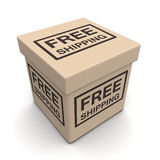 Free shipping ecommerces concept Royalty Free Stock Image