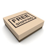 Free shipping ecommerces concept Stock Image
