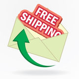 Free shipping envelope Stock Images