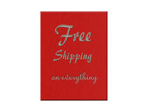 Free Shipping on everything Illustration Royalty Free Stock Photos