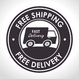 free shipping fast delivery banner Stock Image