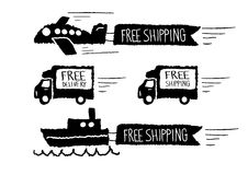 Free shipping and Free delivery Royalty Free Stock Photos
